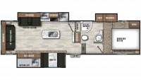 2019 Chaparral X-Lite 285X Floor Plan