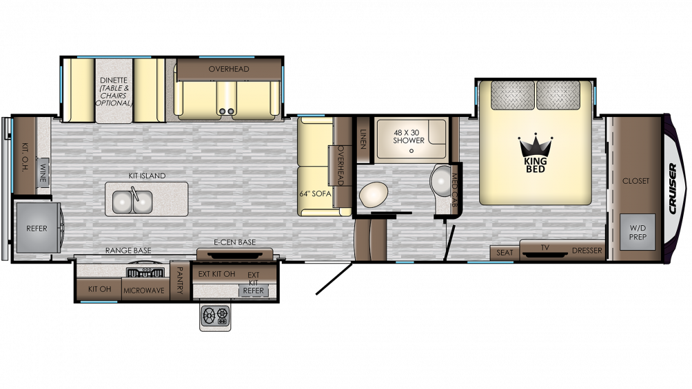 2019 Cruiser 331RD Floor Plan Img