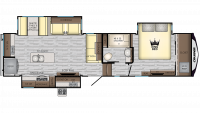 2019 Cruiser 331RD Floor Plan