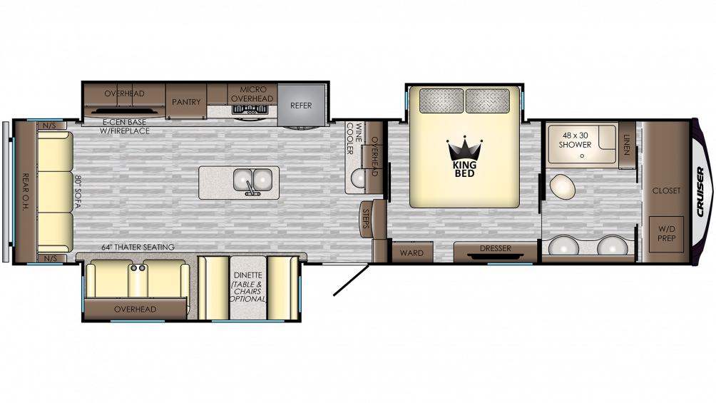 2019 Cruiser 344WB Floor Plan Img