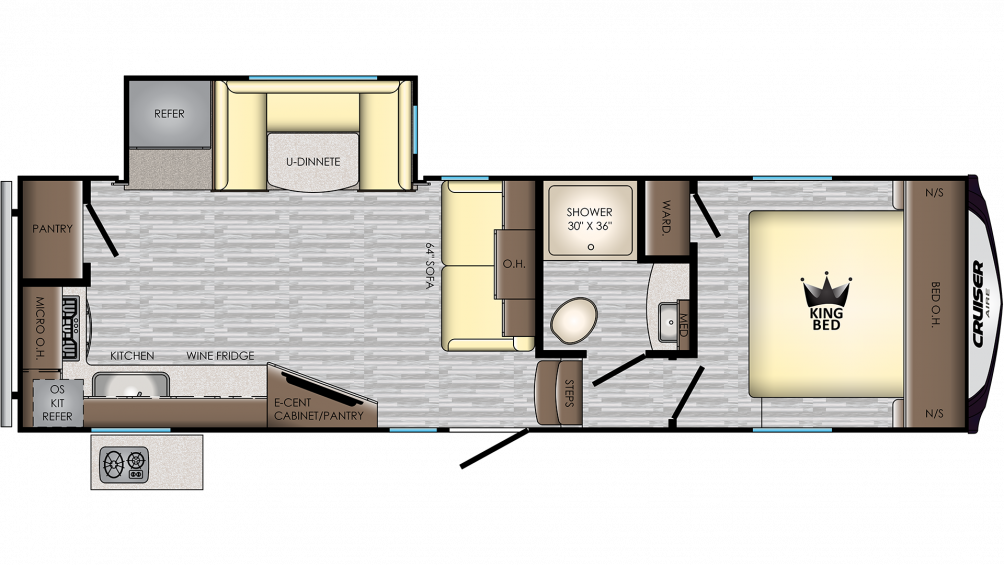 2019 Cruiser Aire 27MK Floor Plan Img