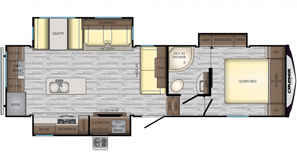 2019 Cruiser Aire 28RD Floor Plan Img