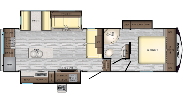 2019 Cruiser Aire 28RD Floor Plan