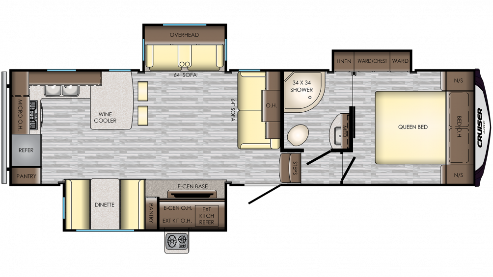 2019 Cruiser Aire 29RK Floor Plan Img