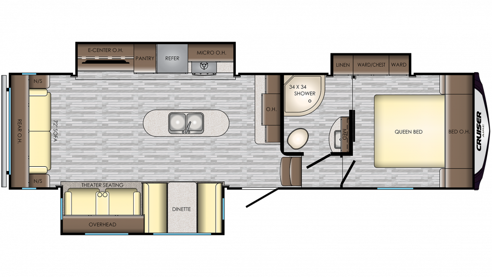 2019 Cruiser Aire 29SI Floor Plan Img
