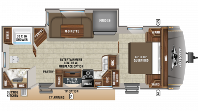 2019 Eagle HT 262RBOK Floor Plan Img