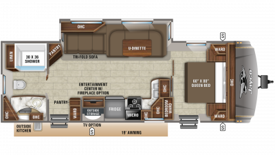 2019 Eagle HT 272RBOK Floor Plan Img