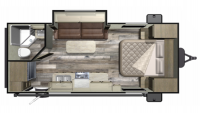 2019 Mossy Oak 20FBS Floor Plan