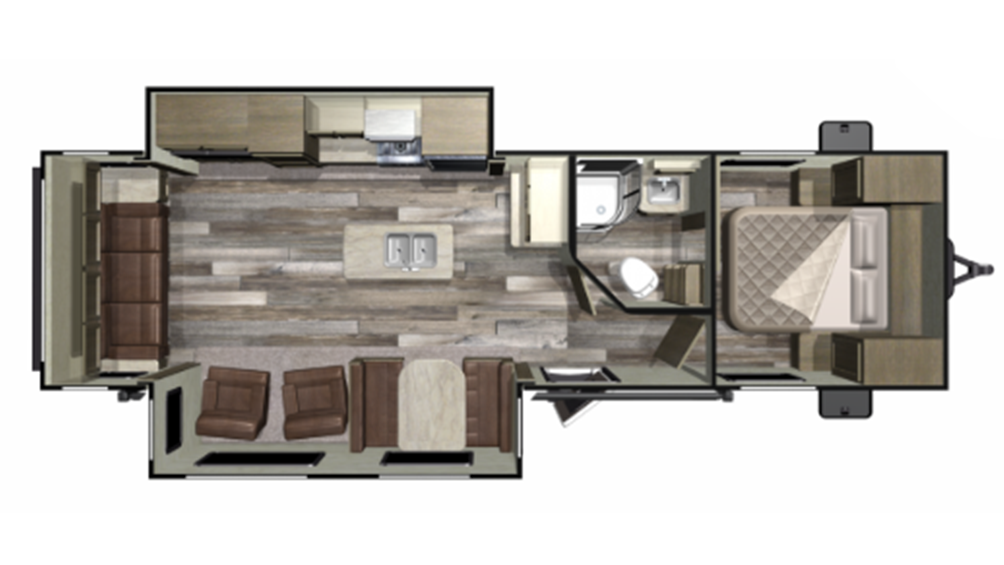 2019 Mossy Oak 27RLI Floor Plan Img