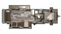 2019 Mossy Oak 27RLI Floor Plan