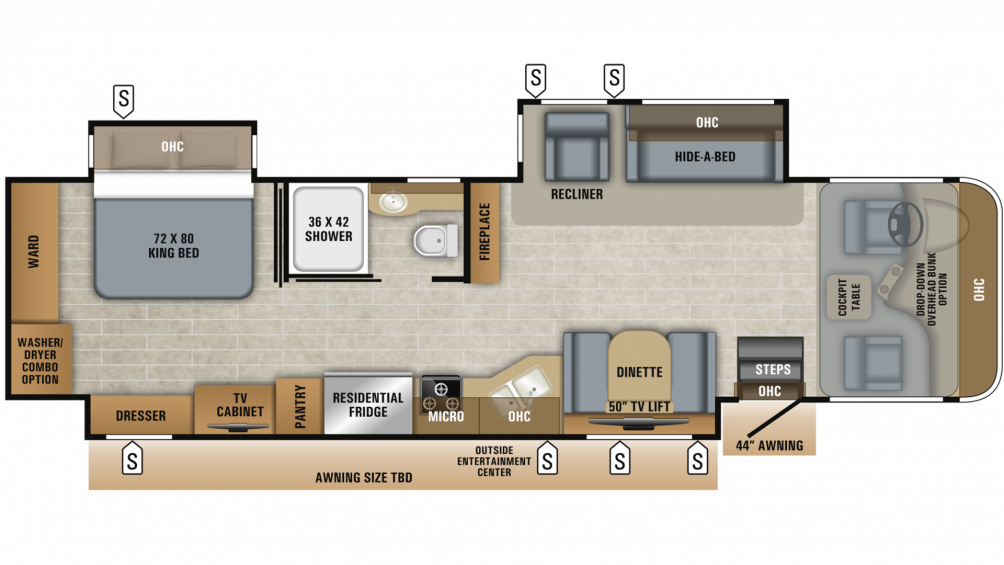 2019 Precept Prestige 36H Floor Plan Img
