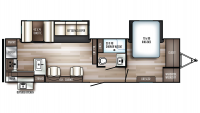 2019 SolAire Ultra Lite 304RKDS Floor Plan