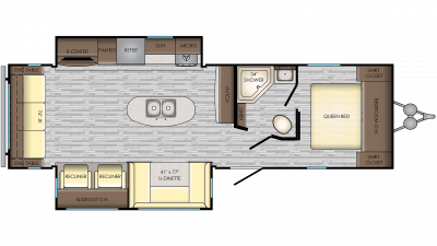 2019 Zinger ZR292RE Floor Plan Img