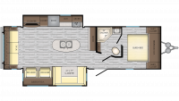 2019 Zinger ZR292RE Floor Plan