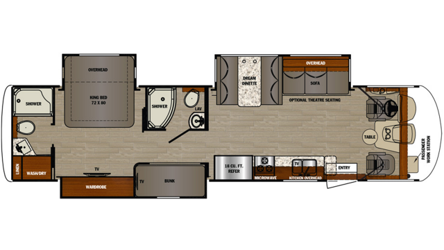 2020 Georgetown 5 Series 36B Floor Plan