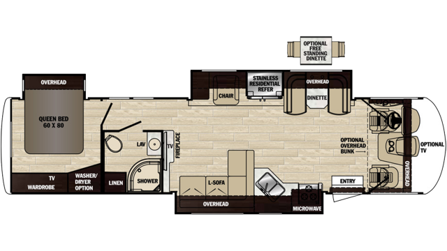 2020 Georgetown XL 377TS Floor Plan