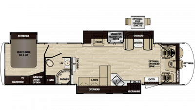 2020 Georgetown XL 377TS Floor Plan Img