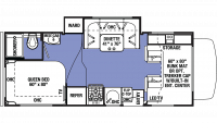 2020 Sunseeker 2290S CHEVY Floor Plan