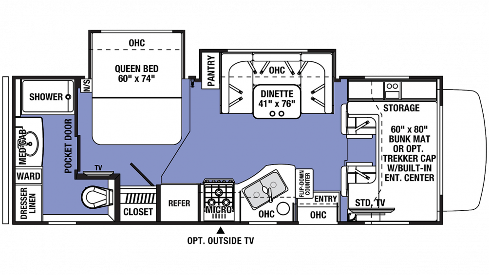 2020 Sunseeker 2440DS Floor Plan Img