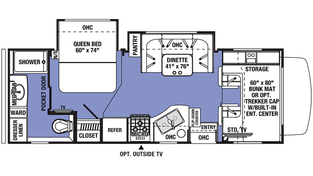 2020 Sunseeker 2440DS Floor Plan