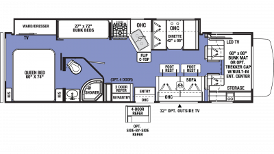 2020 Sunseeker 3270S Floor Plan Img