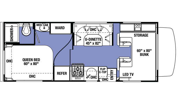 2020 Sunseeker LE 2350 CHEVY Floor Plan