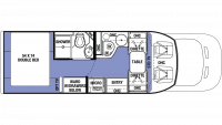 2020 Sunseeker TS 2380D Floor Plan