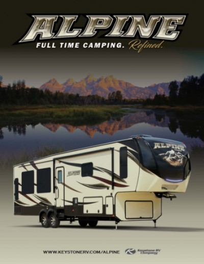 2017 Keystone Alpine RV Brand Brochure Cover