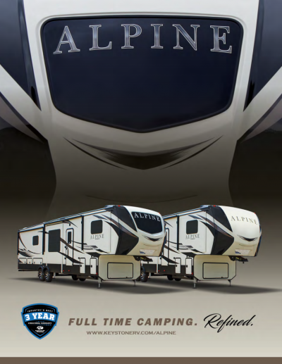 2018 Keystone Alpine RV Brochure Cover