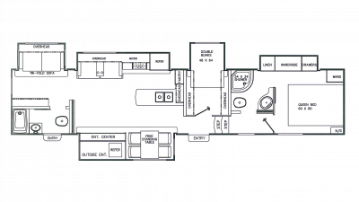 2018 Chaparral 373MBRB Floor Plan