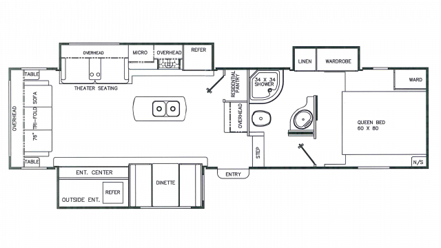 2018 Chaparral Lite 285RLS Floor Plan