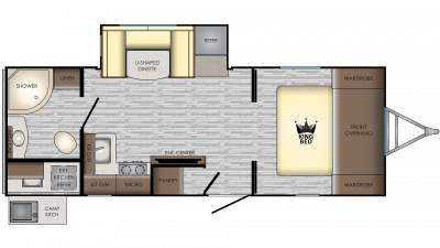 2019 Sunset Trail 222RB Floor Plan Img