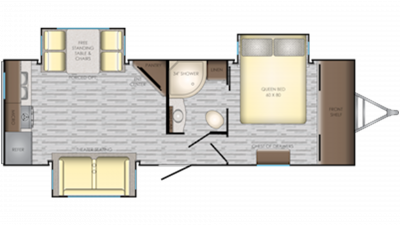 2019 Sunset Trail 250RK Floor Plan Img