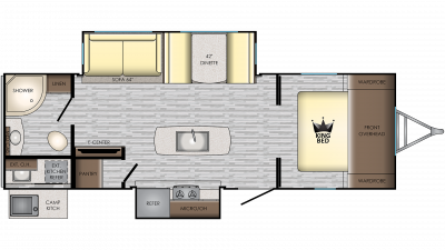 2019 Sunset Trail 260SI Floor Plan Img