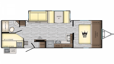 2019 Sunset Trail 288BH Floor Plan Img