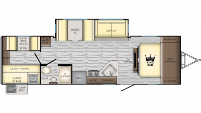 2019 Sunset Trail 289QB Floor Plan Img