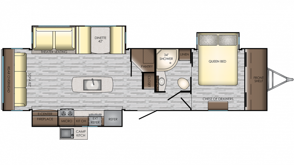 2019 Sunset Trail 330SI Floor Plan Img