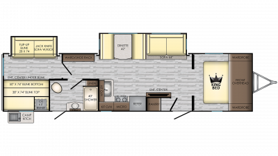 2019 Sunset Trail 336BH Floor Plan Img