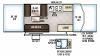 2018 Rockwood ESP 2280BHESP Floor Plan