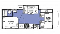 2019 Sunseeker 2290S CHEVY Floor Plan