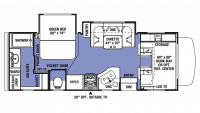 2018 Sunseeker 2420MS Floor Plan