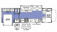 2018 Sunseeker 3010DS Floor Plan