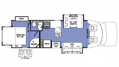 2018 Sunseeker GTS 2800QS Floor Plan Img