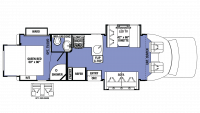 2019 Sunseeker GTS 2800QS Floor Plan