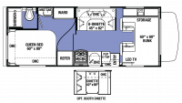 2019 Sunseeker LE 2350 CHEVY Floor Plan