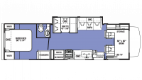 2018 Sunseeker LE 2850S FORD Floor Plan