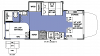 2019 Sunseeker MBS 2400S Floor Plan