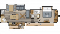 2019 Eagle 319MLOK Floor Plan