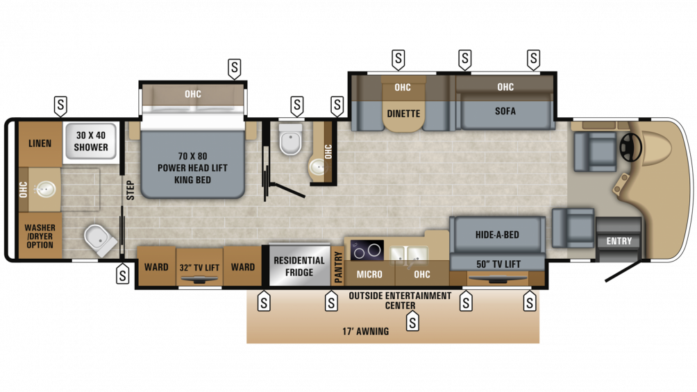 2019 Embark 39T2 Floor Plan Img