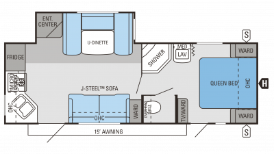 2014 Jay Flight 25RKS Floor Plan Img